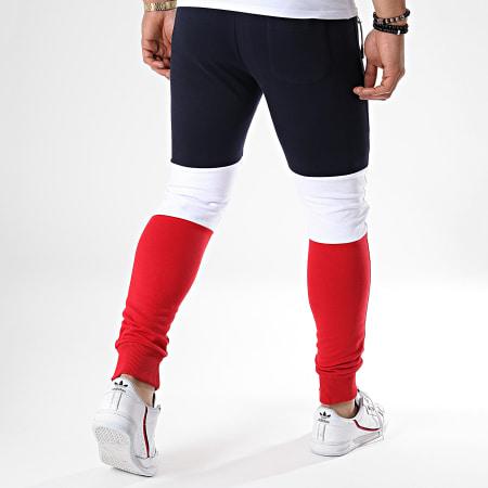 LBO - Pantalon Jogging Tricolore 628 Bleu Blanc Rouge