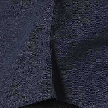 Tokyo Laundry - Chemise Manches Courtes Larsen Bleu Marine