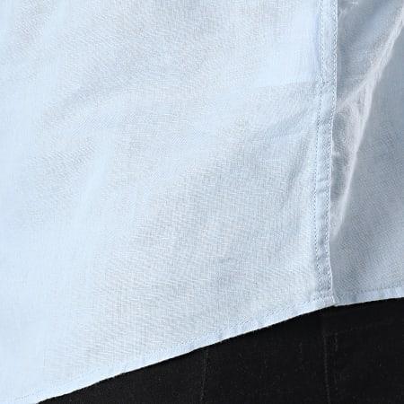 Tokyo Laundry - Chemise Manches Courtes Larsen Bleu Clair