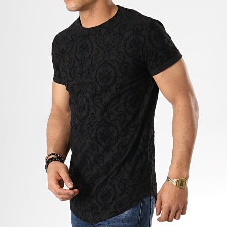 Aarhon - Tee Shirt Oversize 91313 Noir Renaissance