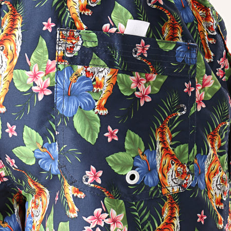 Tokyo Laundry - Short De Bain Magni Bleu Marine Floral