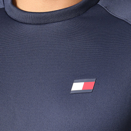 Tommy Sport - Sweat Crewneck Colourblock S20S200085 Bleu Marine