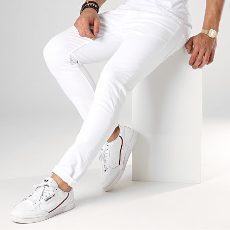 Only And Sons - Jean Slim Loom Blanc