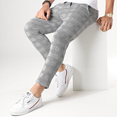 Aarhon - Pantalon Carreaux 18-228-1 Gris Noir