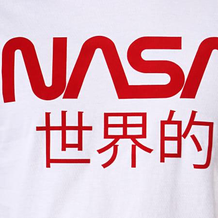 NASA - Tee Shirt Worldwide Blanc Rouge