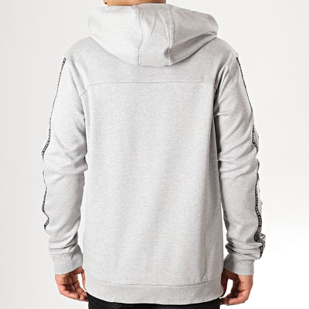 HUGO By Hugo Boss - Sweat Capuche Avec Bandes Dercolano 50410571 Gris Chiné