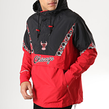 Mitchell And Ness - Veste Outdoor Team Colour Chicago Bulls Rouge Noir