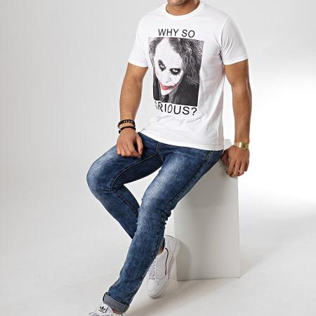 Batman - Tee Shirt Why So Serious? Blanc