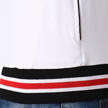 Gianni Kavanagh - Veste Zippée Ribbon Blanc Noir Rouge