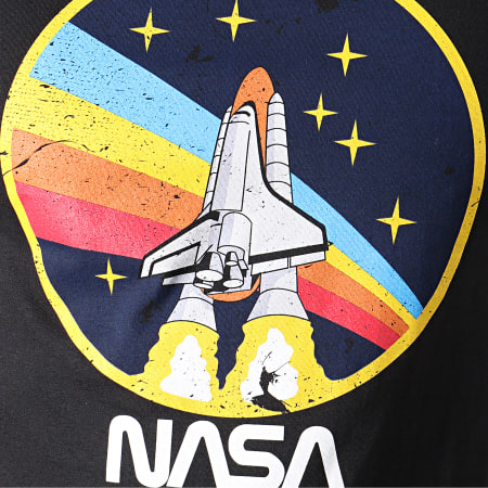 NASA - Tee Shirt Rocket Circle Noir
