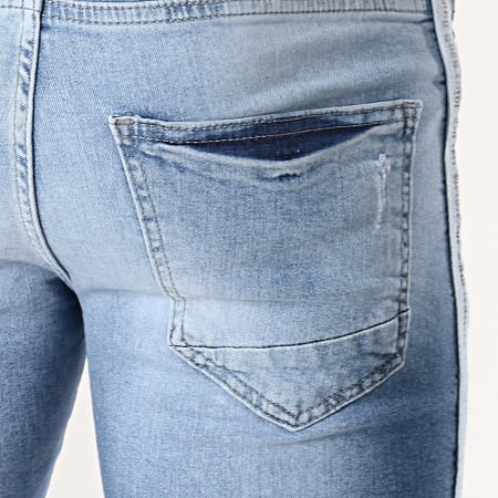 Classic Series - Short Jean Slim A Bandes 2052 Bleu Denim