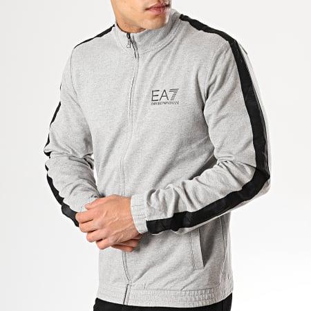 EA7 - Veste Zippée 3GPM21-PJ05Z Gris Chiné