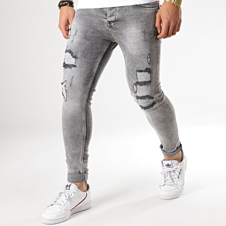 Berry Denim - Jean Slim J1045 Gris