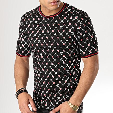 Berry Denim - Tee Shirt JB18080 Noir Rouge