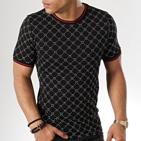 Berry Denim - Tee Shirt JAK-127 Noir Blanc Rouge