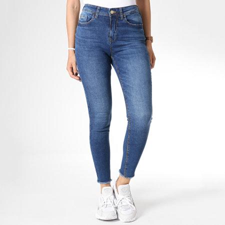 Only - Jean Skinny Femme Taille Haute Mika Bleu Denim