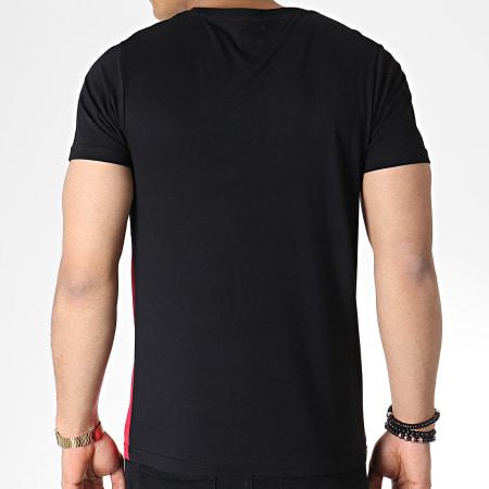 LBO - Tee Shirt Tricolore Avec Poche 723 Noir Blanc Rouge