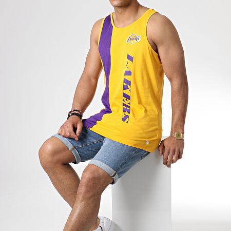 New Era - Débardeur Team Wordmark Los Angeles Lakers 11935229 Jaune Violet