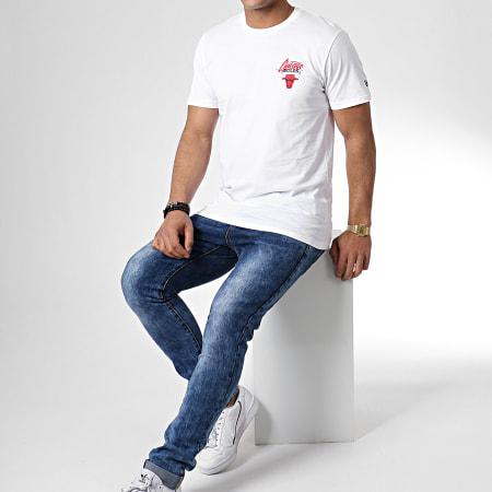 New Era - Tee Shirt Script Logo Chicago Bulls 11935237 Blanc