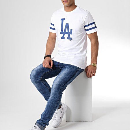 New Era - Tee Shirt Team Logo Los Angeles Dodgers 11935268 Blanc