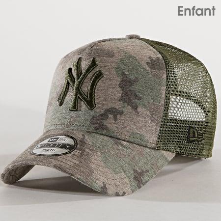 New Era - CasquetteTrucker Enfant Kids Camouflage 940 New York Yankees 11945538 Vert Kaki Camouflage