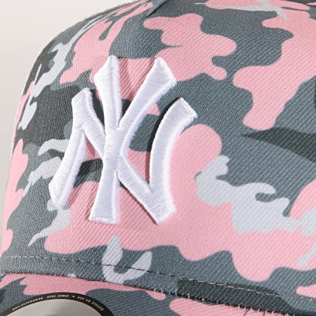 New Era - Casquette Trucker Camouflage New York Yankees 11945566 Rose Blanc Camouflage