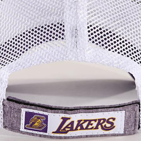 New Era - Casquette Trucker Summer League 940 Los Angeles Lakers 11945625 Violet Chiné Blanc