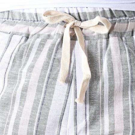 MTX - Short TM0135 Blanc Vert Kaki Beige
