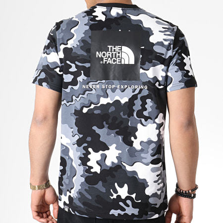 The North Face - Tee Shirt Red Box 2TX2 Gris Anthracite Camouflage Blanc