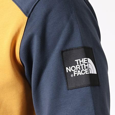 The North Face - Sweat Capuche Fine Box 3BNX Jaune Gris Anthracite