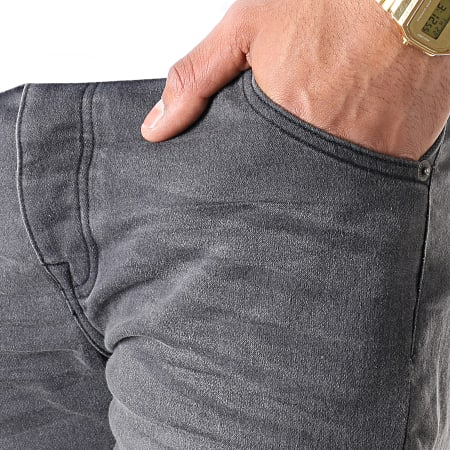 Brave Soul - Short Jean Lincoln Char Gris Anthracite