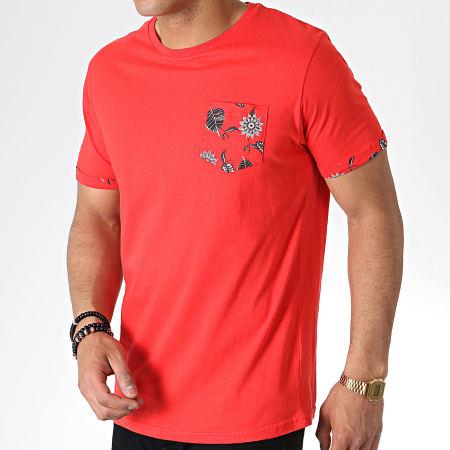 Brave Soul - Tee Shirt Poche 149 Ash Rouge Floral