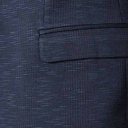 Classic Series - Veste Blazer A Carreaux SDP002 Bleu Marine