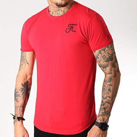 Final Club - Tee Shirt Oversize Premium Fit Avec Broderie 222 Rouge