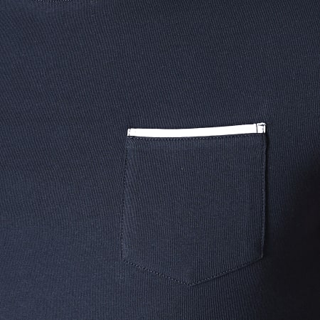 LBO - Tee Shirt Tricolore Avec Poche 733 Bleu Marine