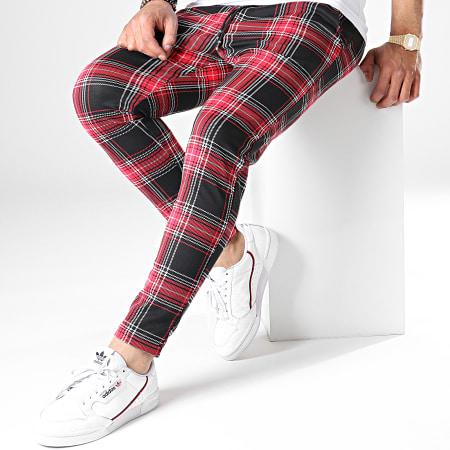 MTX - Pantalon A Carreaux TM0126 Noir Rouge