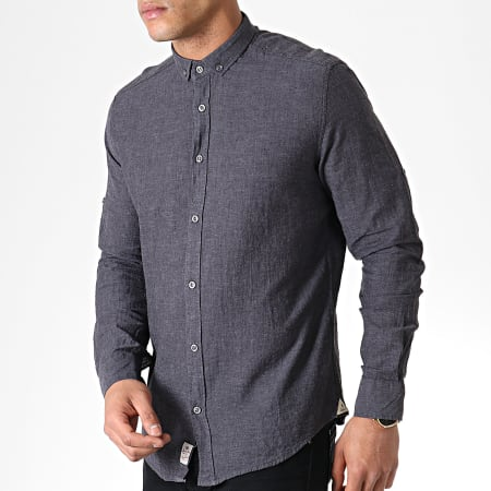 Classic Series - Chemise Manches Longues 5119 Gris Anthracite Chiné