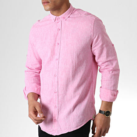 Classic Series - Chemise Manches Longues 5119 Rose Chiné