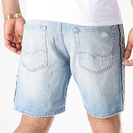 Jack And Jones - Short Jean A Bandes Chris Bleu Wash