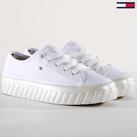 Tommy Hilfiger Jeans - Baskets Femme Outsole Detail Platform FW0FW04134 White