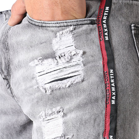 Classic Series - Short En Jean A Bandes TH37376 Gris