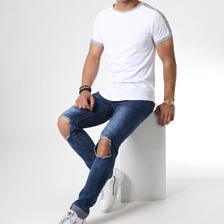 Frilivin - Tee Shirt Oversize 5197 Blanc