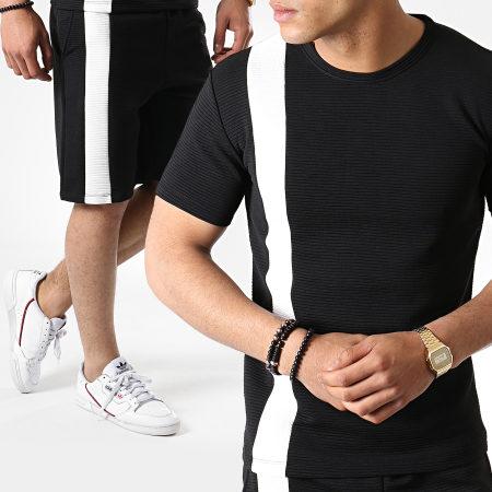Frilivin - Ensemble Tee Shirt Short Jogging 5292 Noir