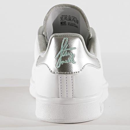 adidas - Baskets Femme Stan Smith G27907 Footwear White Silver Metallic Clear Mint