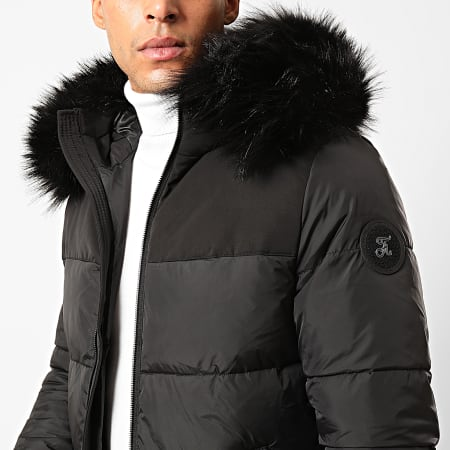 Final Club - Doudoune Fourrure Premium Big Puffa Noir