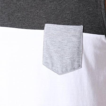 LBO - Débardeur Poche 760 Gris Anthracite Blanc