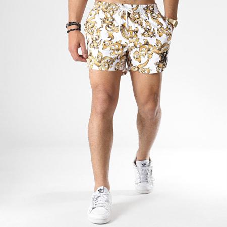 blanc Sik Silk Shorts De Bain