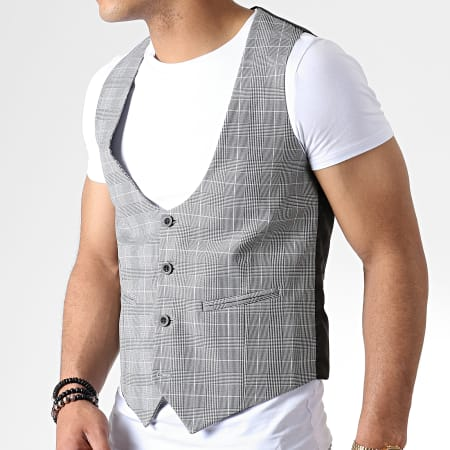Classic Series - Ensemble Gilet Et Pantalon Carreaux 3109 Gris