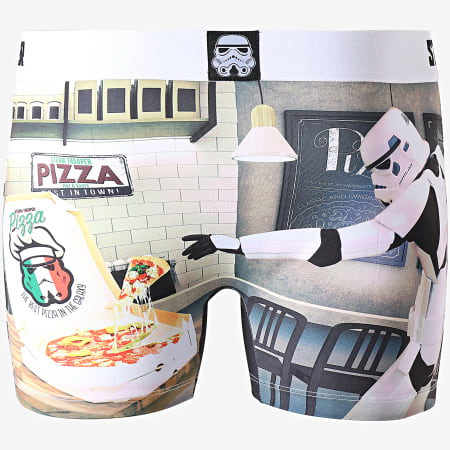 Freegun - Boxer Star Wars Pizza Blanc