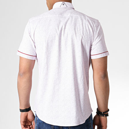 Classic Series - Chemise Manches Courtes Y-3393 Blanc Rouge